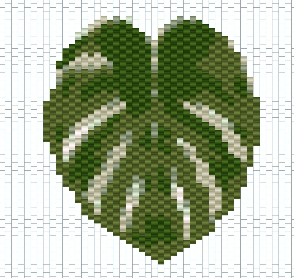 monstera grille